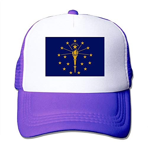 Miedhki Indiana State Flag Mesh Trucker Caps/Hats Adjustable for Unisex Black