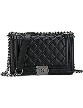 Belle Vannes Damen Klassisch Designer Gesteppte Schultertasche aus Leder mit Kette Tasche Umhaengetasche Damentaschen...