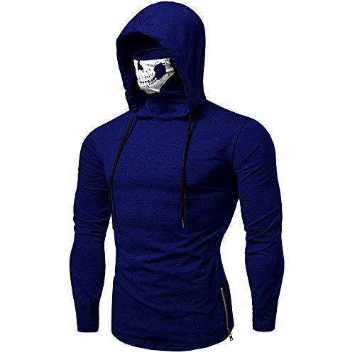 Sweat à Capuche Homme, Printemps Automne Hiver Sweat-Shirt Manteau Veste AméLiorer Pas Cher Hoodies LâChe DéContracté Pullover Sweat-Shirt Chemisier (Marine, M)