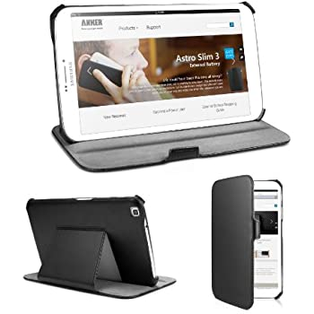 Anker? Galaxy Tab 3 8.0 Frameless Synthetic Leather Case for Samsung Galaxy Tab 3 8-inch T3100 T3110 Tablet - Smart Cover with Multi Angle Stand - Lifetime warranty