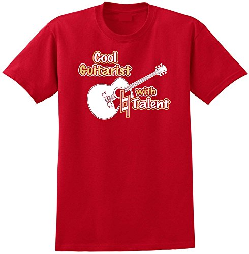 Acoustic Guitar Cool Natural Talent - Red Rot T Shirt Größe 87cm 36in Small MusicaliTee - Gitarre Epiphone Electric Acoustic