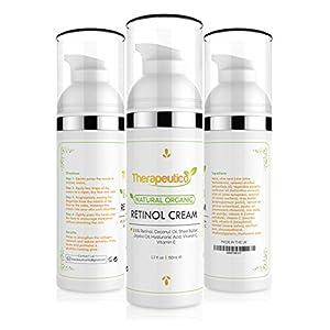 ORGANIC Anti Ageing Retinol Cream For Face 50ml | Ultra Premium | 2.5% Retinol, Hyaluronic Acid, Jojoba Oil, Shea Butter, Coconut Oil, Vitamin C & E | Reduce Wrinkles, Strengthen Collagen Network, Firms & Tones | For All Skin Types | MADE IN UK