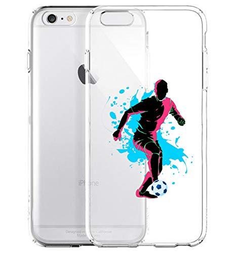 GlamCase Schutzhülle für iPhone 6 Plus/iPhone 6S Plus, Motiv Fußballspieler, transparent