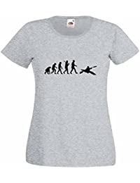 Evolution of Kayaking Ladies Heather T-Shirt with Black Print