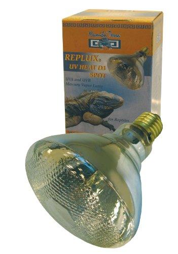 Namiba Terra 1656 Replux UVHEAT Strahler, 100 Watt - SPOT, UVA mit UVB - Strahler für Ganztbestrahlung, Fassung