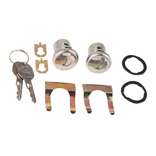Sharplace-2-Pcs-Cilindro-Serratura-Porta-Set-Con-2-Chiave-Automobile