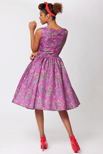 SEXYHER élégant style vintage paisley audrey hepburn 1950 schwingen soirées rBJ1508–robe - Bi-color