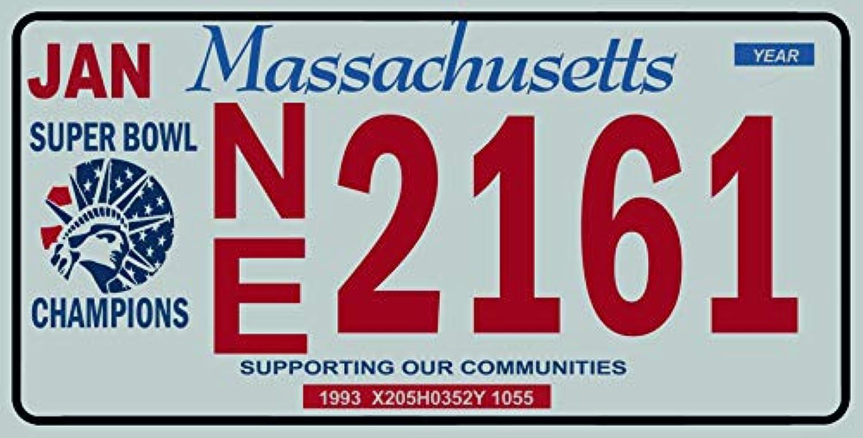 Fabbri Plaque immatriculation am/éricaine Nouvelle 31/x 16/cm Reproduction Massachusetts USA
