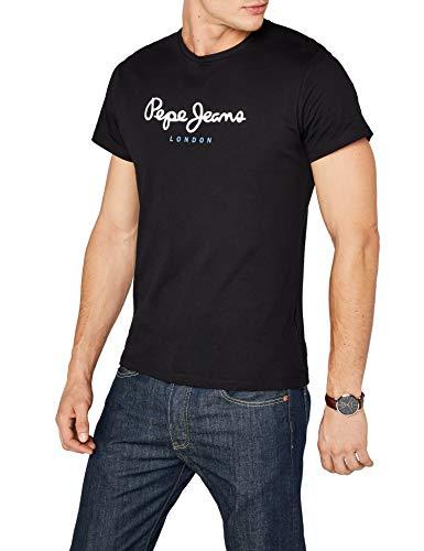 Pepe Jeans Eggo, Camiseta Para Hombre, Negro