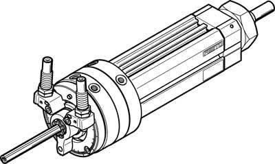DSL-16-80-270-CC-A-S20-KF-B (556604) Schwenk-Lineareinheit Einstellbereich Schwenkwinkel:0 bis 246