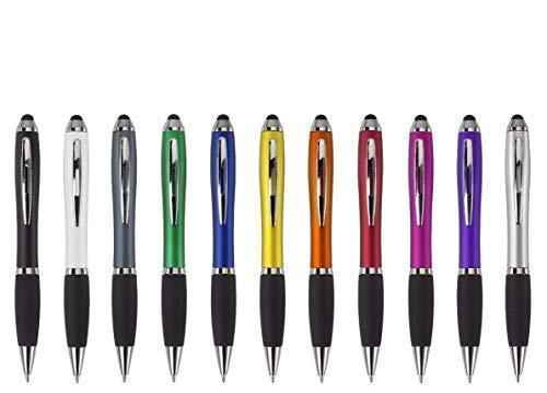 Penna a sfera bristol incl. stampa touch con pubblicità/logo/ stampa/werbedruck penna a sfera stampato stampa digitale multicolore con touch screen funzione - rosa, menge: 500 stück, metallo