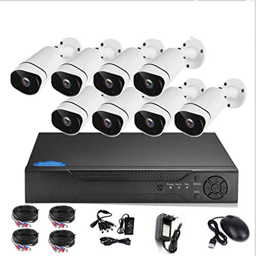 Überwachungskamerasysteme 8-Kanal mit 8x 1520P Home CCTV-Kamerasystem DVR Kit 4MP Motion Detection