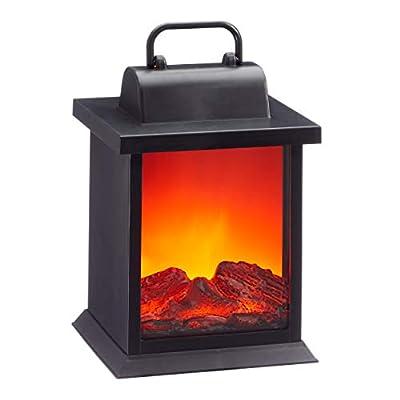 73332 LED Kamin Laterne mit Flammenflackern Dekolaterne Stimmungslicht von Cepewa bei Heizstrahler Onlineshop