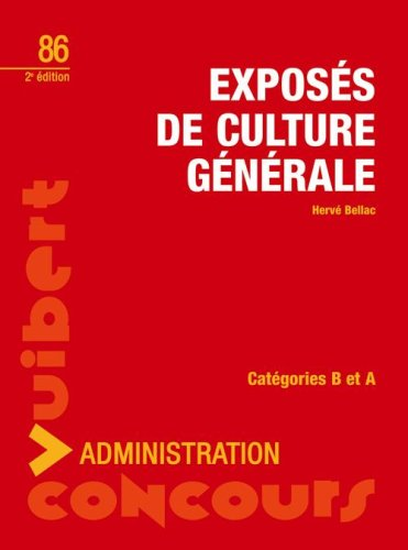 Exposs de culture gnrale : Catgories B et A
