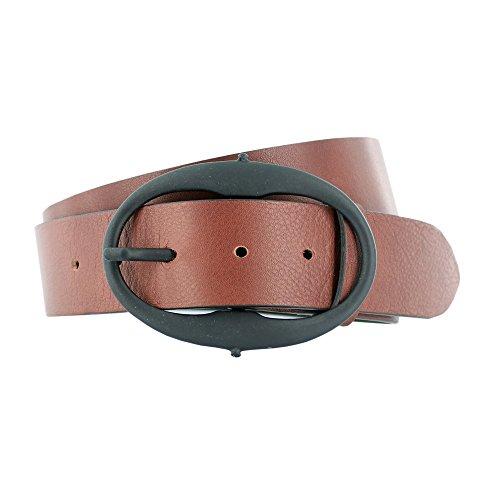 Hüftgold Unisex Ledergürtel 'Mogano' , Farbe:Braun;Größe:90cm