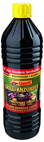 Favorit Anzünder flüssig, 1 Liter, Anzünder, Ofenanzünder, Kohleanzünder, geruchsneutral, ökologisch - 1260