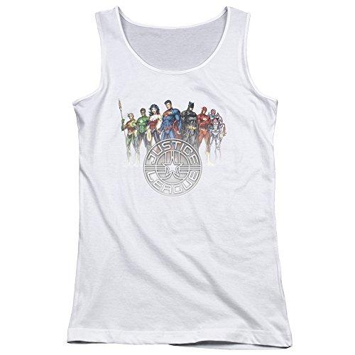 Débardeur Crest Cercle des jeunes femmes - Justice League white