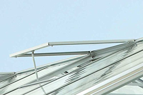 Vitavia Dachfenster für Gewächshaus Cronos, Ohne Verglasung in Silber, witterungsbeständiges und Stabiles Gartenhaus-Fenster, Leichte Montage, praktisches Zubehör