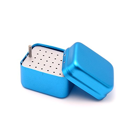 Etelux 30 Löcher Desinfektion Box Dental Löcher 30 Sterilisationstemperatur und Autoklav(Blau)
