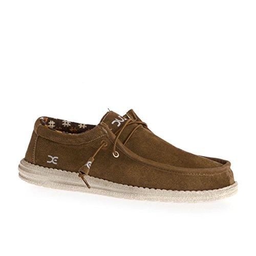 Dude Shoes Men's Wally Winter Suede Nut Brown