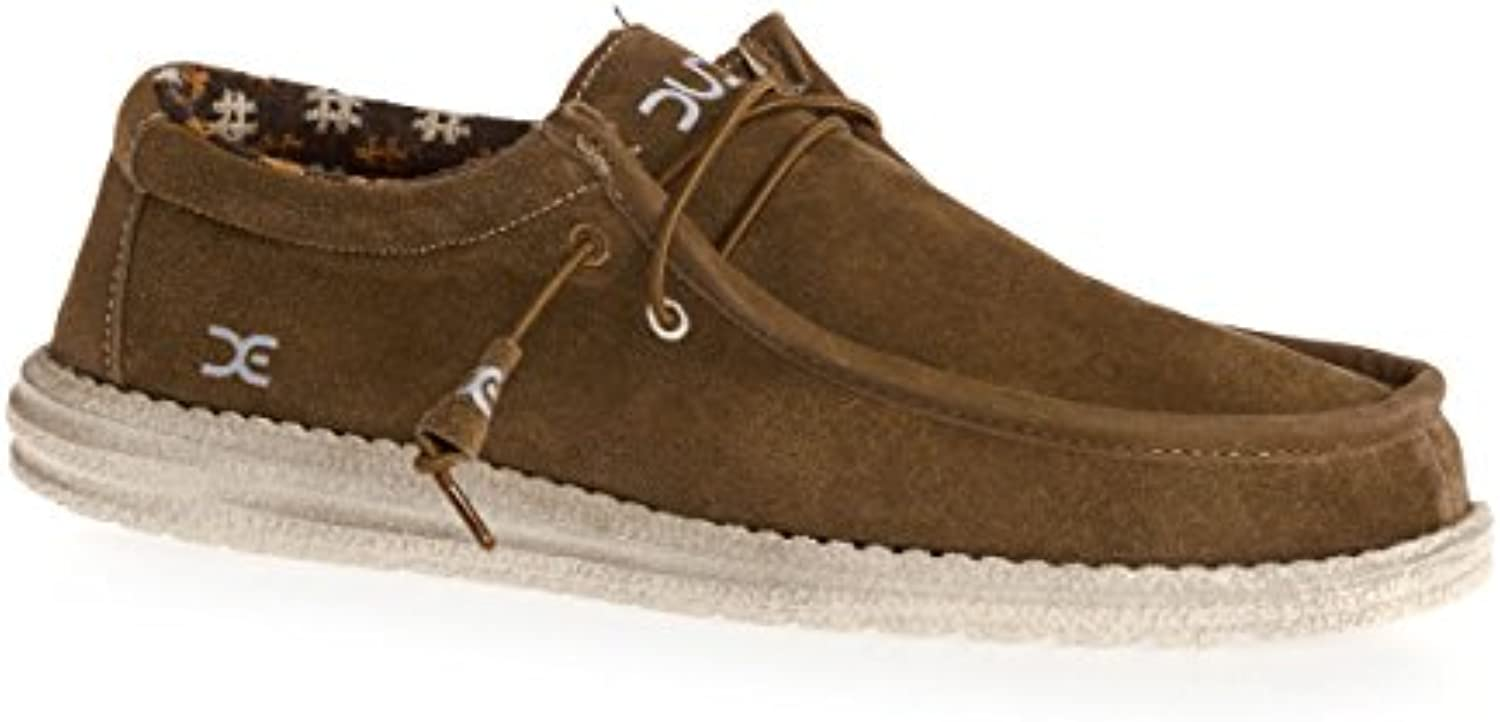 Dude scarpe Men's Wally Winter Suede Nut | Fine Anno Vendita Speciale