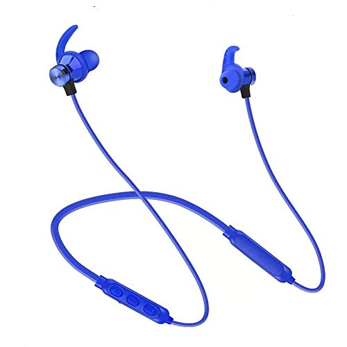 Auriculares Bluetooth 4.1 Cascos Deportivos Magnéticos In-ear Inalámbricos con Mic, Resistente al Agua IPX5, Duración 8 Horas para iPad, iOS Android Móviles Smartphones PC