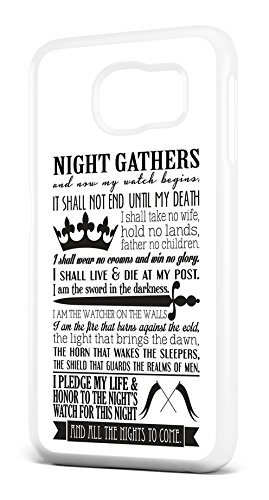 Game of Thrones Serment de la Garde de Nuit Housse/étui pour téléphone SAMSUNG GALAXY S6en plastique rigide transparent