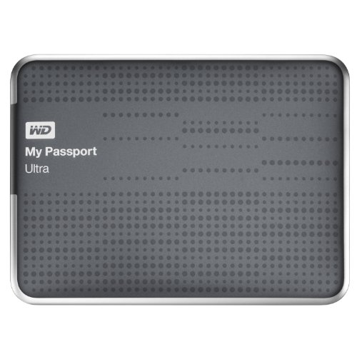 WD My Passport Ultra 1TB USB 3.0 Portable Drive with Auto and Cloud Backup - Titanium