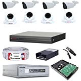 PLUSCAM CCTV Combo CP Plus (CP Plus 8 Channel HD DVR 1080p 1Pcs, Night Vision Outdoor Camera 2.4 MP 4Pcs, Indoor Camera 2.4 M