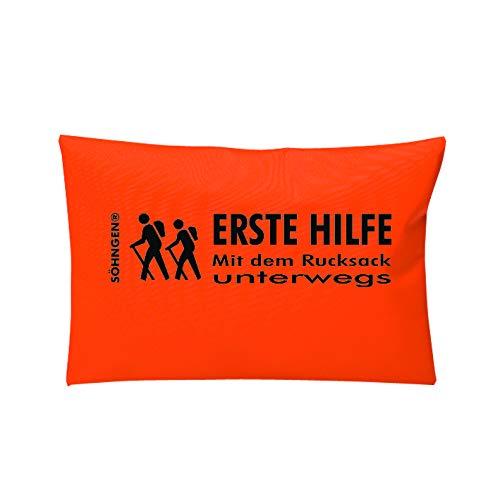Söhngen Erste-Hilfe-Set Mit dem Rucksack unterwegs orange (Kompakt; Reißverschlusstasche; Freizeit, Wandern, Backpackern, Rucksacktouren; Outdoor Aktivitäten) 0308019o