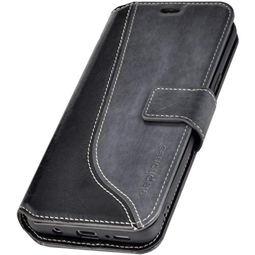 elephones® Samsung Galaxy S8 Hülle Handyhülle für S8 - Kompatibel mit Galaxy S8 Flip Case Schutzhülle - Grau (CTS8GRAY)