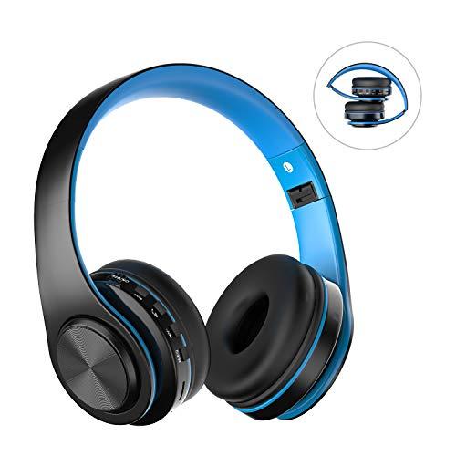 Cuffie Bluetooth Senza Fili con Microfono, ZLX Pieghevole Over-Ear Wireless Bluetooth headphones per...