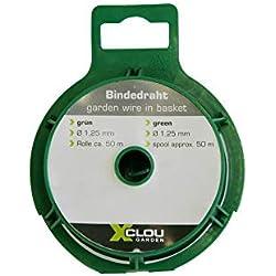 Xclou Garden Bindedraht ummantelt, Durchmesser circa 1,25 mm und 50 m lang, grün, 10.4 x 5.6 x 8.7 cm, 360231