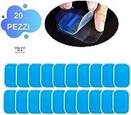 YOUFIT Gel-elektrostimulator, gelpads voor elektrostimulator, polycarbonaat, 20 stuks