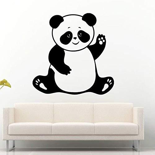 Tier Bär Asian Panda Wandaufkleber für Kindergarten Kinderzimmer Tapete Vinyl Kunst Decals Babys Schlafzimmer Home Poster Wandbilder 57X57CM - Asian Bar
