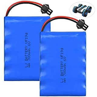 allcaca RC Car Battery for 1:18 Scale Remote Control Toy, 2 Pieces