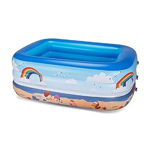 Kleinkinder und Kleinkinder Familie Aufgeblasen PVC Pool Kind Dicker Groß Regenbogen Pool spielen