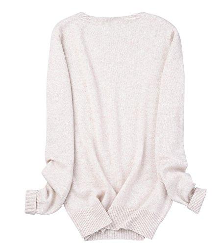 Zhili Women's Cashmere Pullover Sweater Beige