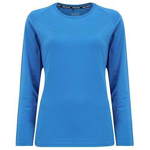 Time to Run Leichtgewichtiges Thermo-Lauf-T-Shirt für Damen mit Rundhalsausschnitt 42 Calypso Blau (Thermal Blau Long Sleeve T-shirt)