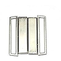 Bikiniverschluss Metall silber Steg 25 mm