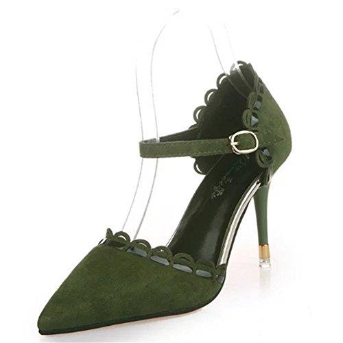 Le printemps de Korean fashion chaussures pointues à talons hauts/Sandales talons/chaussures de boucle de baotou Joker C
