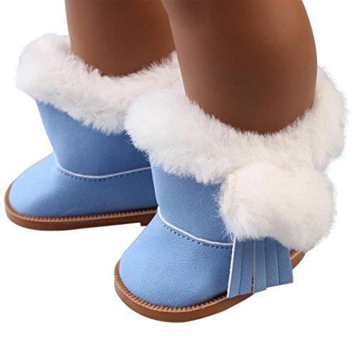 American Girl Puppen Schuhe 45,7cm, günstige American Girl Dolls Snow Stiefel vneirw, himmelblau (American Doll Gymnastik-outfit)