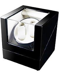 Dazonyang Watch Winder-Dual Automatische Uhrenbeweger 5 Bewegungs-ModiUhr für mechanische Armbanduhr,Super leiser Motor 2+0 (schwarz + weiß)