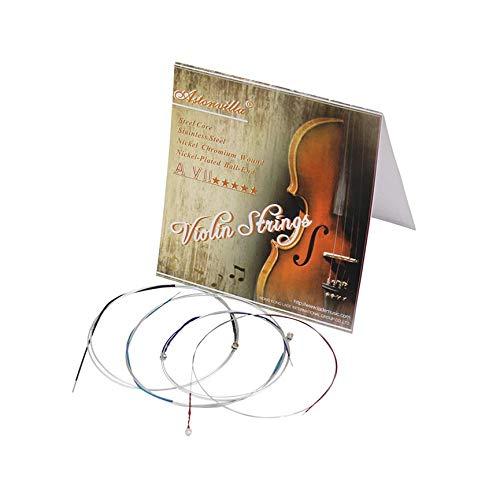 VCB Deutscher Pirastro Tonica Violinsaiten Set Violino Saite für 4/4-1/8 Violine - Silber (Tonica Violin-saiten 4 4)