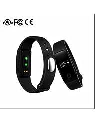 Montre Téléphone Smart Watch,Fil de Suture,Bluetooth intelligent Bracelet Podomètres,Calorie et Distance,Bumper et Anti-Scratch,Ecran LCD compatible Smartphone/Iphone/Android