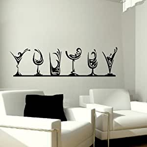 Glasses Wall Sticker Decal