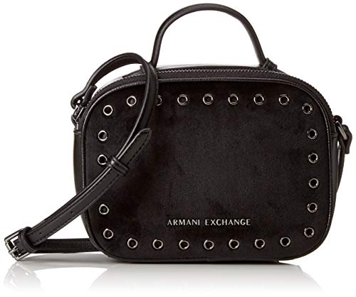Armani Exchange - Small Cross Body Bag, Carteras de mano Mujer, Negro (Nero), 13.0x6.5x18.0 cm (B x H T)