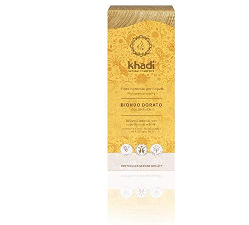 Khadi tinta vegetale in polvere biondo dorato 100 gr