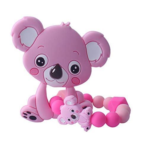Huihu 1 Satz Kind Baby Schnuller Beißring Armband Beruhigende Nette Koala Bunte Design Kinder Komfort Lieferungen - Beruhigende Satz