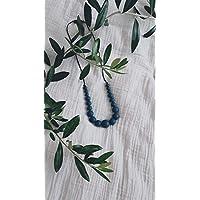 Peacock Rond - Cadeau pour maman - Naissance - collier de portage, d'allaitement, fête des mères